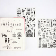 Creative stickers worldwide travel pvc handbook stickers posted DIY 6 sheets/set
