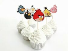 12x Angry Birds Cupcake Topper Pick. *HANDMADE* Party Supplies Lolly Bag