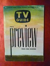 N Texas September 24-30 TV GUIDE 1960 FALL PREVIEW FLINTSTONES Route 66 Griffith