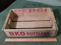 RKO Bottlers_Pepsi-Cola *Wood_Metal Edged* Carrier_Crate [1979] Signer (OHIO)
