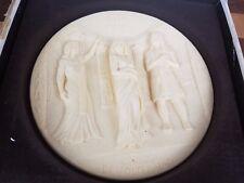 1979 Studio Dante Volteradici Ivory Alabaster Raised 3D Aida Plate
