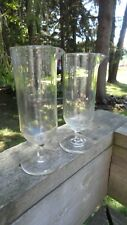 2 Vintage Apothecary Pharmacy Glass Beakers