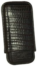MARTIN WESS BROWN LIZARD COWHIDE/ GOATSKIN LEATHER 5 CIGARILLO CASE * NEW *