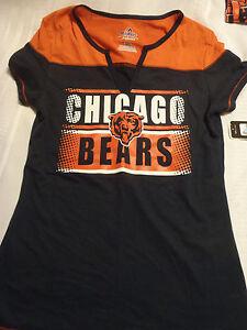 Majestic Fan Fashion NFL Chicago Bears Small Womens Short Sleeved Shirt NWT