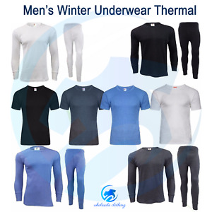 Mens Winter Thermals Underwear Baselayers Brushed Warm Outdoor Long Johns TOPS