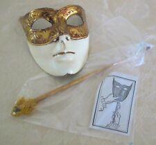 CARNEVALE di VENEZIA MASK Handmade in ITALY - Carnival Face Mask w/Holder