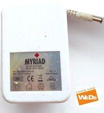 MYRIAD AC/DC POWER ADAPTER SER-12500V 12V 500mA UK PLUG