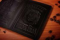 Ukrainian Passport Cover, Premium Genuine Leather Cover