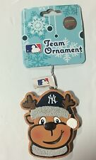NY New York Yankees Gingerbread REINDEER Christmas Tree Holiday Ornament NEW