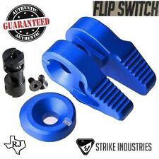 Strike Industries FLIP SWITCH BLUE Ambi Safety Ambidextrous 60 90 degree + Cap