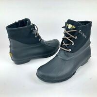 Sperry Saltwater Waterproof Insulated Rubber Duck Rain Boots Ankle Zip Womens 10