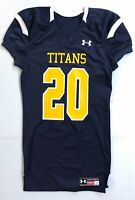 New Under Armour Men's L Titans Stock Saber Football Jersey #20 Navy Tennessee