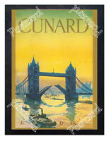 Historic Cunard London Travel Advertising Postcard