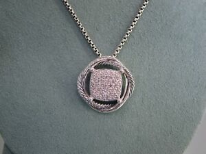 DAVID YURMAN DIAMOND .41 CTW INFINITY COLLECTION DIAMOND PENDANT NECKLACE