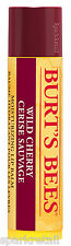 Burt's Bees Wild Cherry Humectante 100% Natural Hidratante Bálsamo Labial 4.25g ***
