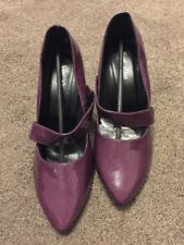 (88) Ladies Purple Heels Size 5 Eee New