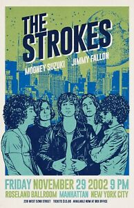 The Strokes 2002 Tour Poster