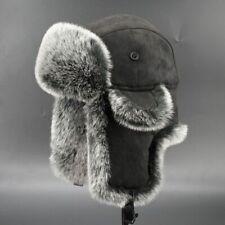 Мужские Траппер шляпа лыжная шапка ушанка русский казак искусственный мех замша зима