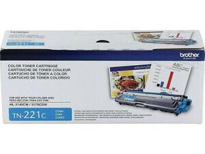 New Brother TN 221C Cyan Toner Cartridge Standard New