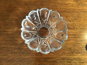 ANTIQUE BOBECHE CHANDELIER CANDLE DRIP TRAY. GLASS #3