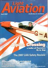 Light Aviation Magazine 2008 April Fournier,Isles of Scilly History of Flying