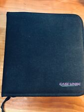Case Logic Black MiniDisc MD Storage carrying case 6 page Holds 24 Discs.