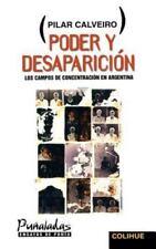 Poder y Desaparicion: Los Campos de Concentracion en Argentina (Paperback or Sof