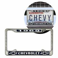 1969 Chevy Chevrolet GM License Front Rear Chrome Plate Holder Frame V8 SS LS 69