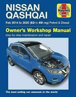 Nissan Qashqai 2014 - 2020 Petrol & Diesel Haynes Manual 6463