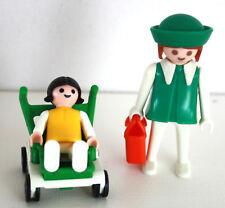 PLAYMOBIL -  KLICKY VINTAGE 3597 - MAMAN AVEC POUSSETTE BEBE / WOMAN PUSCHCHAIR
