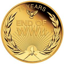 2020 End of WWII 75th Anniversary 1/4oz .9999 Gold Proof Coin - PM