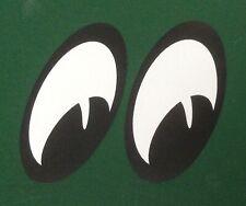 Moon eyes 1 Pair. black & white. Lambretta Vespa Vw Camper Beetle Bug  Mooneyes