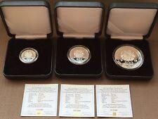 ARMENIA NOAH's ARK SILVER COINS SET 100 200 500 DRAM ( armenian coin drams )