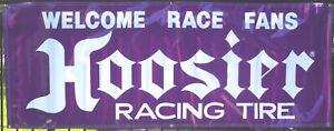 Hoosier Racing Banner Flag 8 x 3 Purple Garage Car Shop Wall Decor US FREE SHIP