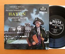 "LW 5288 Haydn Symphony no. 102 Georg Solti London Phil. Decca 10"" EXCELLENT"