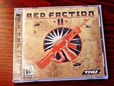 RED FACTION II 2003 PC shooter 2 disc video game with manual Very Good condition
