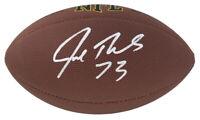 Joe Thomas BROWNS Signed Wilson Super Grip Full Size NFL Football - SCHWARTZ COA