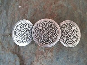 Celtic Silver Plated with French Clip Hair Barrette 80MM Clip Made in USA 6002S