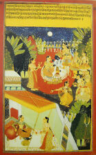Krishna in the company of Gopies Miniature Paintings Poster of Rajasthan