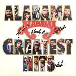 "ALABAMA HAND SIGNED AUTOGRAPH LP ALBUM - ""GREATEST HITS"""