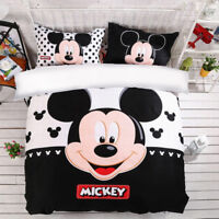 Mickey Mouse Cotton Quilt/Duvet Cover Set Queen/King Size Bed New Doona Covers