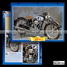 #129.10 Fiche Moto FN FABRIQUE NATIONALE 350 M XIII (M13) 1947 Motorcycle Card