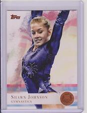 2012 TOPPS OLYMPIC SHAWN JOHNSON GYMNASTICS BRONZE CARD #1 ~ MULTIPLES
