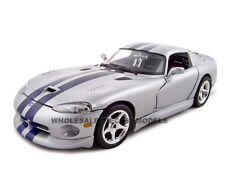 DODGE VIPER GTS COUPE SILVER 1:18 DIECAST MODEL CAR BY BBURAGO 12041