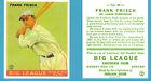 1933 Goudey Reprint #49 Frank Frisch Card - St. Louis Cardinals