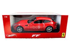 Hot Wheels  Ferrari FF V12 FOUR SEATER FOUR WHEELS DRIVE RED 1/18 DIECAST CAR
