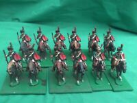 HINCHLIFFE 25/28mm NAPOLEONIC FRENCH CHASSEURS A CHEVAL X 12 PAINTED NEW