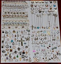 Vintage Sterling Silver 925 Stamped Mixed Jewelry Lot 185 Pieces 982 Grams