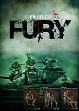 1:35 Brad Pitt The film Fury (5 people) High Quality Resin Figure Kit