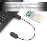 For Microsoft Wireless Display Adapter V2 Receiver HDMI And USB Port Black KQ
